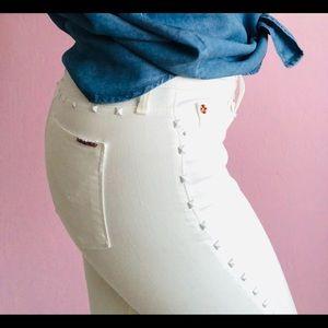 Hudson Jeans White Nico studded skinny size 28